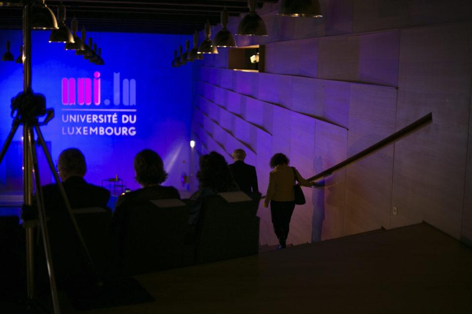 Shine a light agence évènementielle luxembourg - créateur d'expériences immersives - Université de Luxembourg - Cérémonie Rolf Tarrach UNI